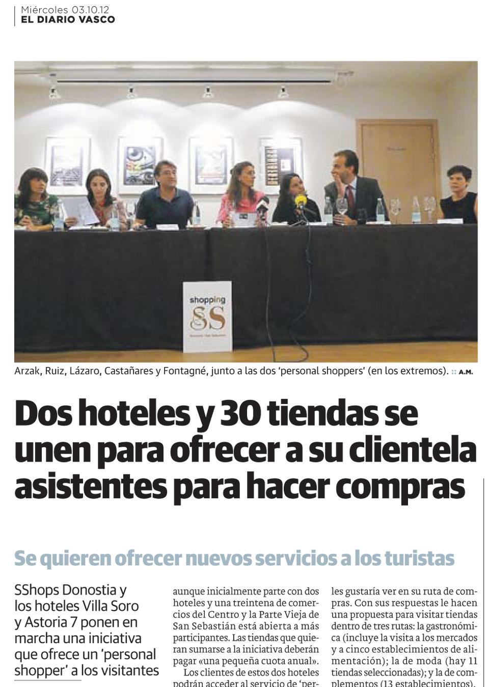Dos Hoteles y 30 tiendas