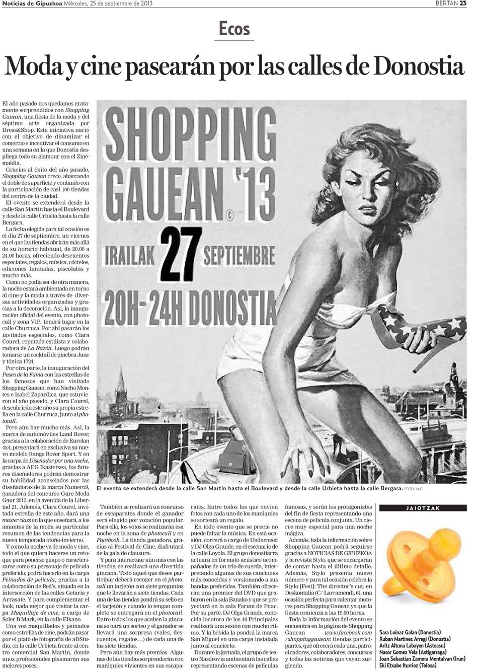 Moda y cine pasearán por las calles de Donostia