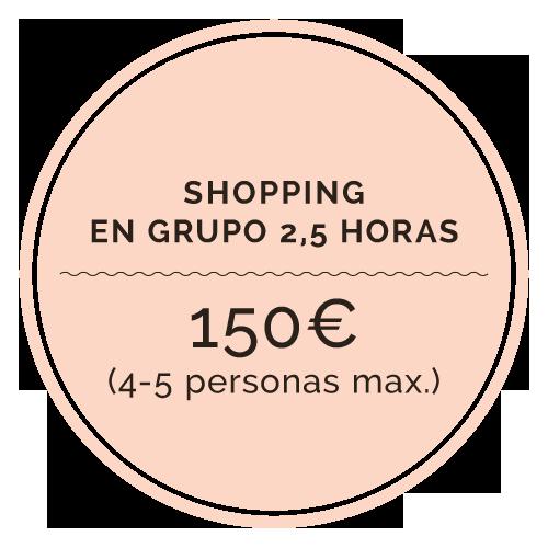 Shopping grupos 4-5 personas